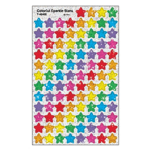 Colorful Sparkle Stars Stickers