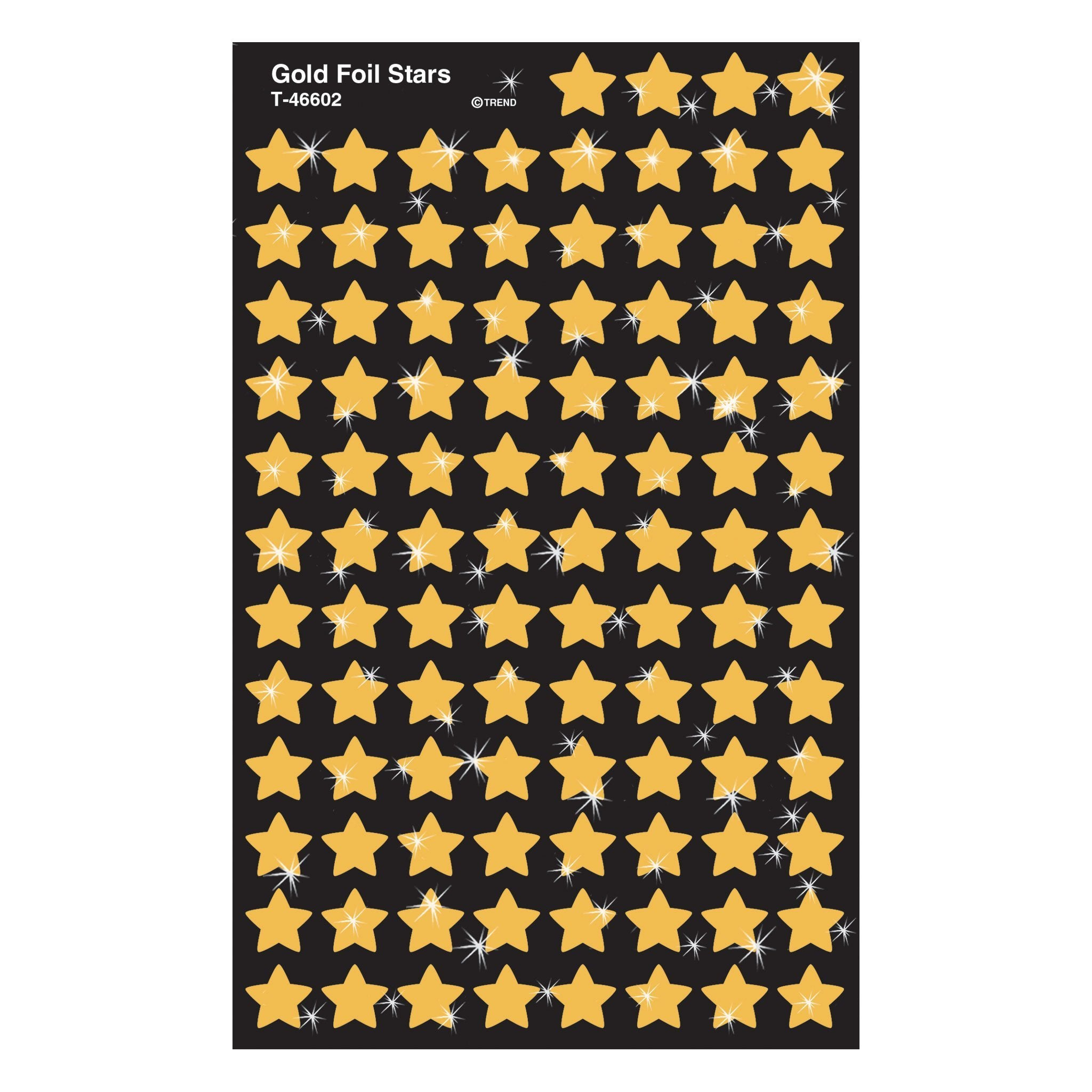 Gold Foil Stars Stickers
