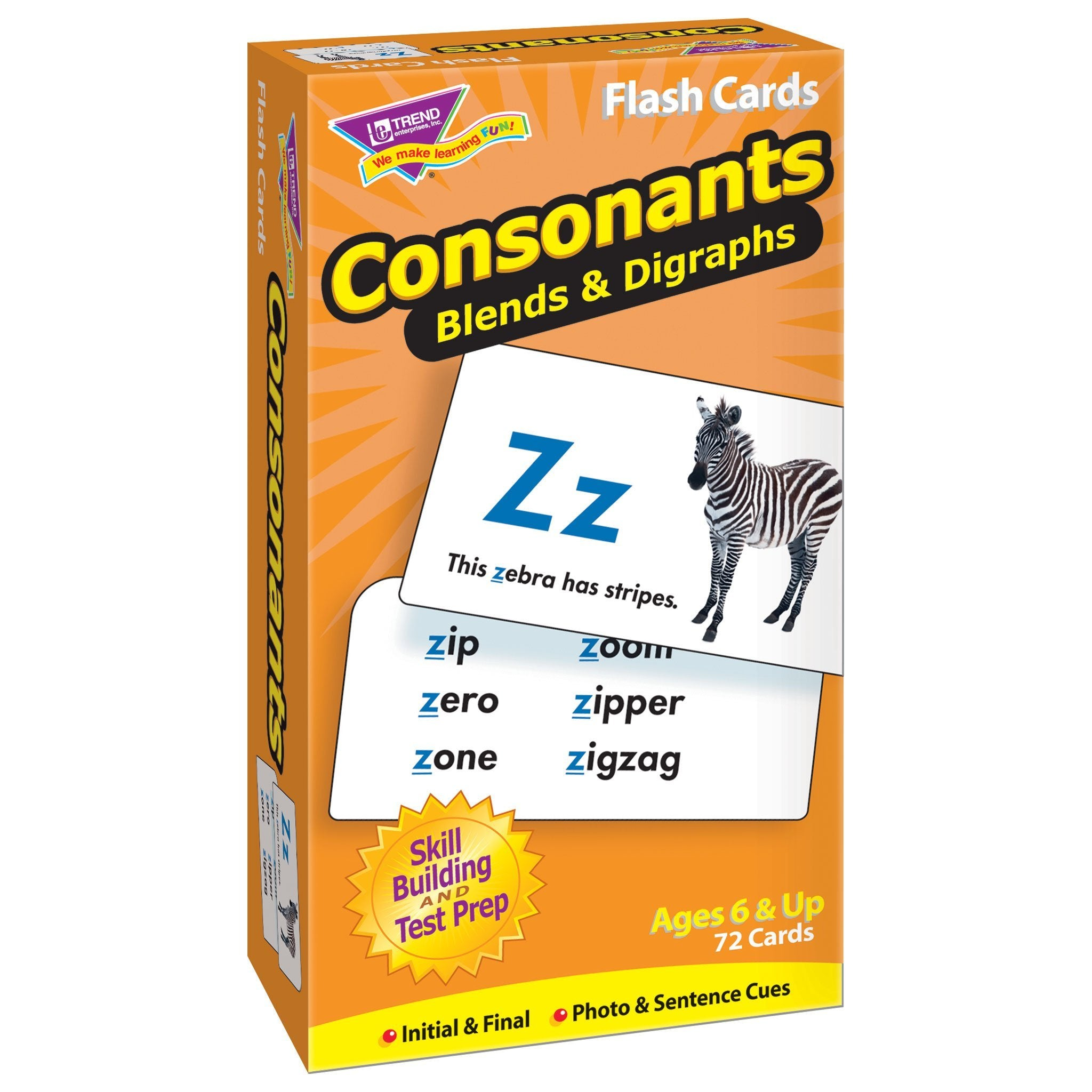 Consonants Skill Drill Flash Cards