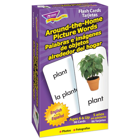 Around-the-Home/Palabras (EN/SP) Skill Drill Flash Cards