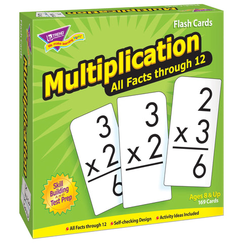 Multiplication 0-12 All Facts Skill Drill Flash Cards