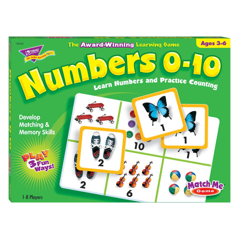 Numbers 0-10 Match Me® Games