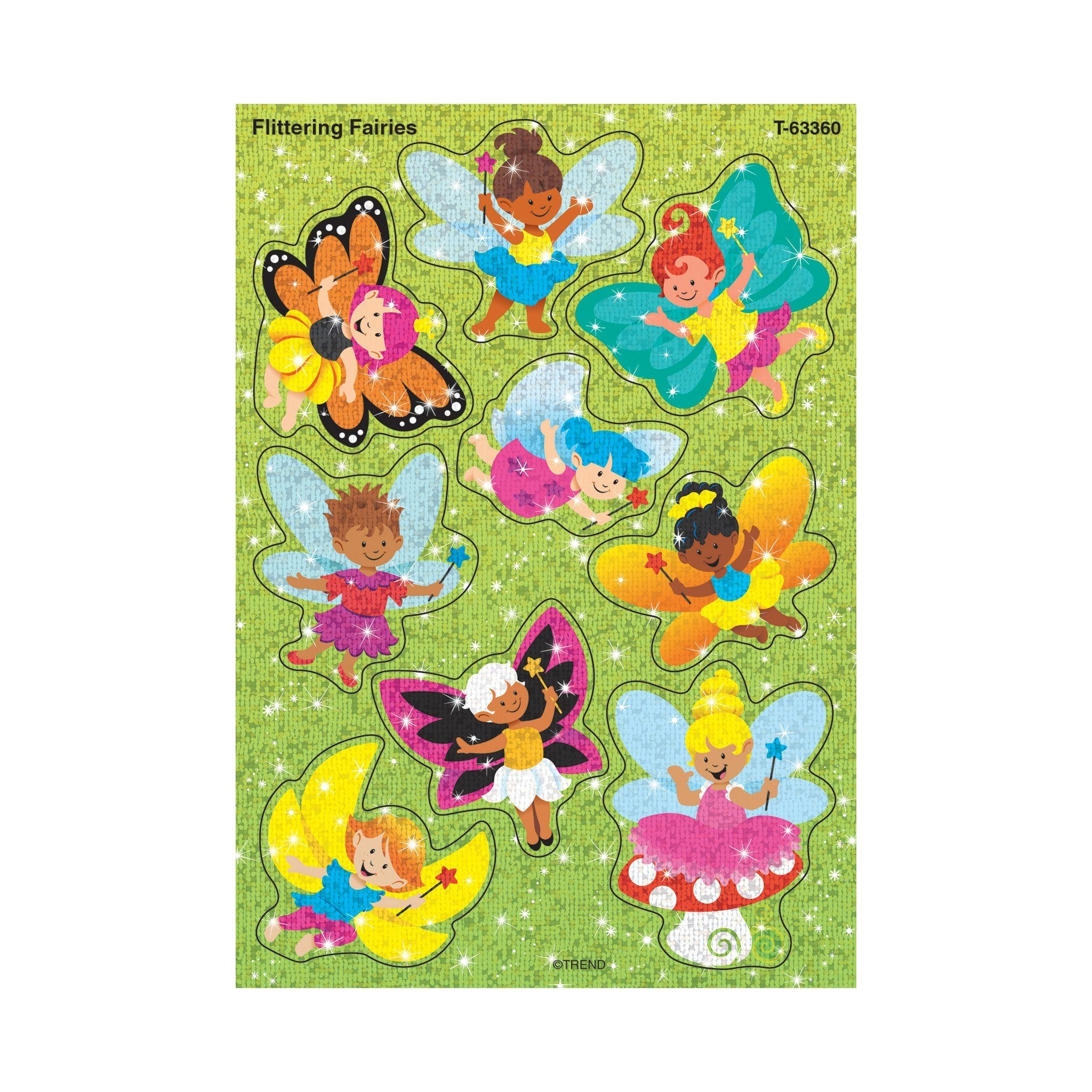 Flittering Fairies Sparkle Stickers®