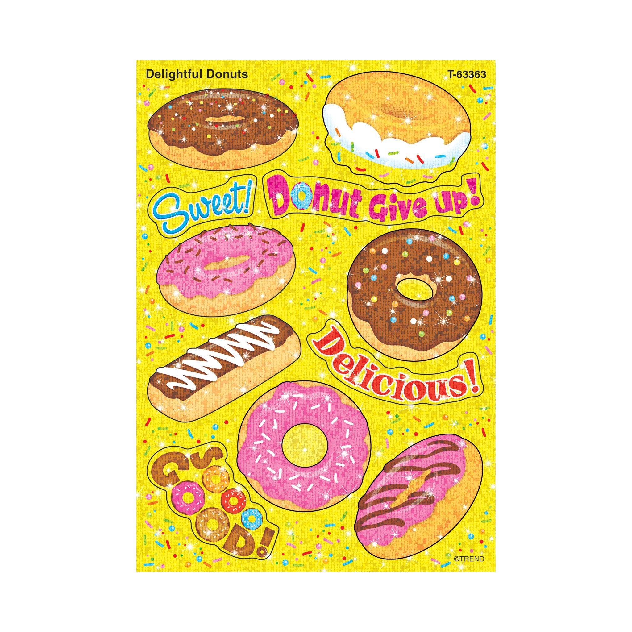 Delightful Donuts Sparkle Stickers®