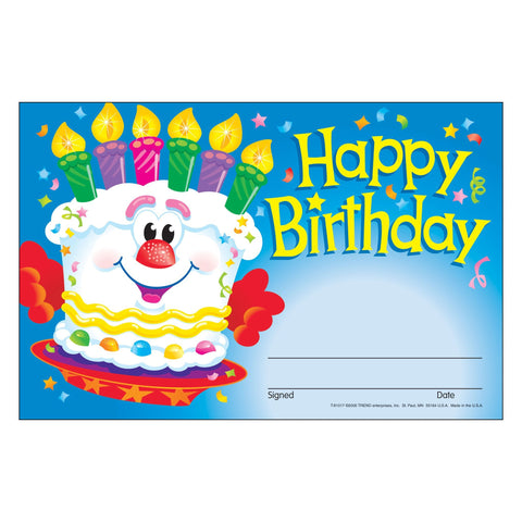 Happy Birthday Cake Rewards & Incentives
