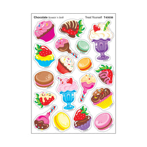 Treat Yourself/Chocolate Mixed Shapes Stinky Stickers®