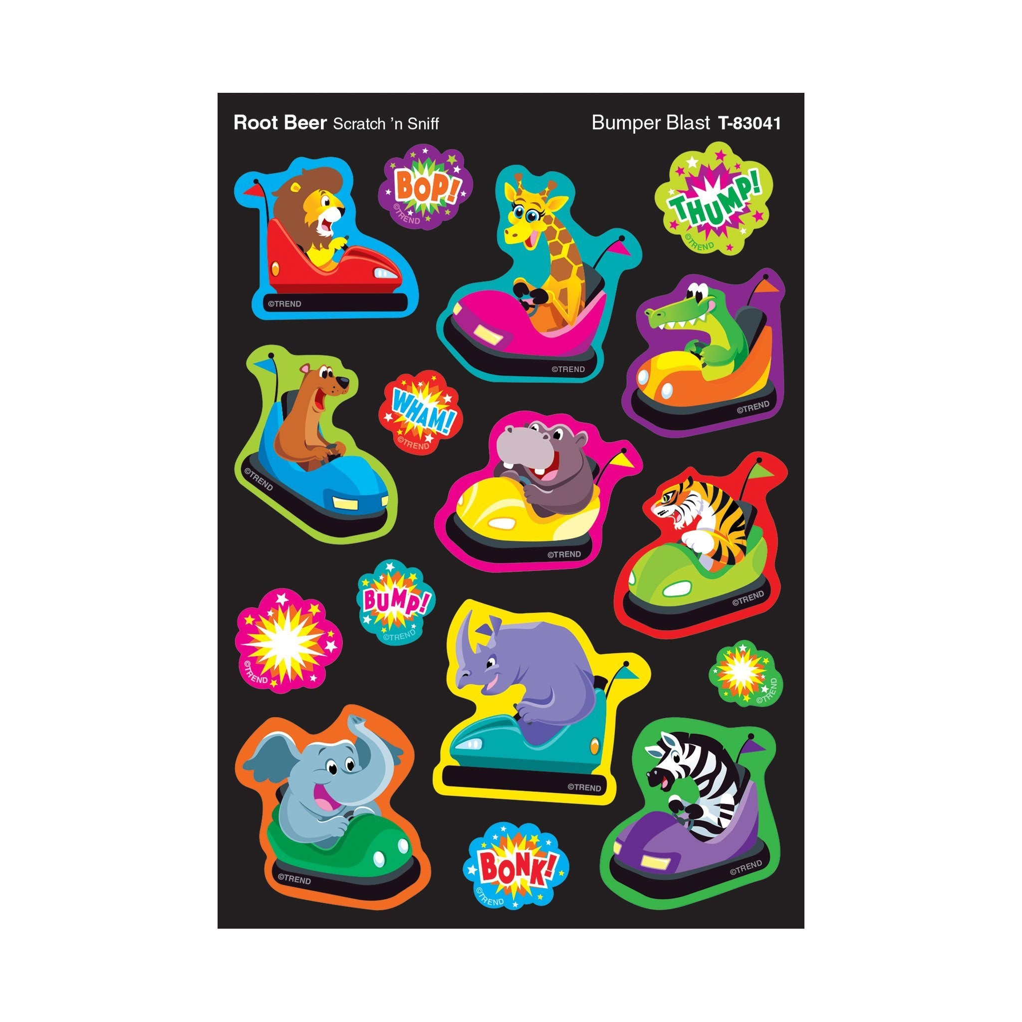 Bumper Blast/Root Beer Mixed Shapes Stinky Stickers®