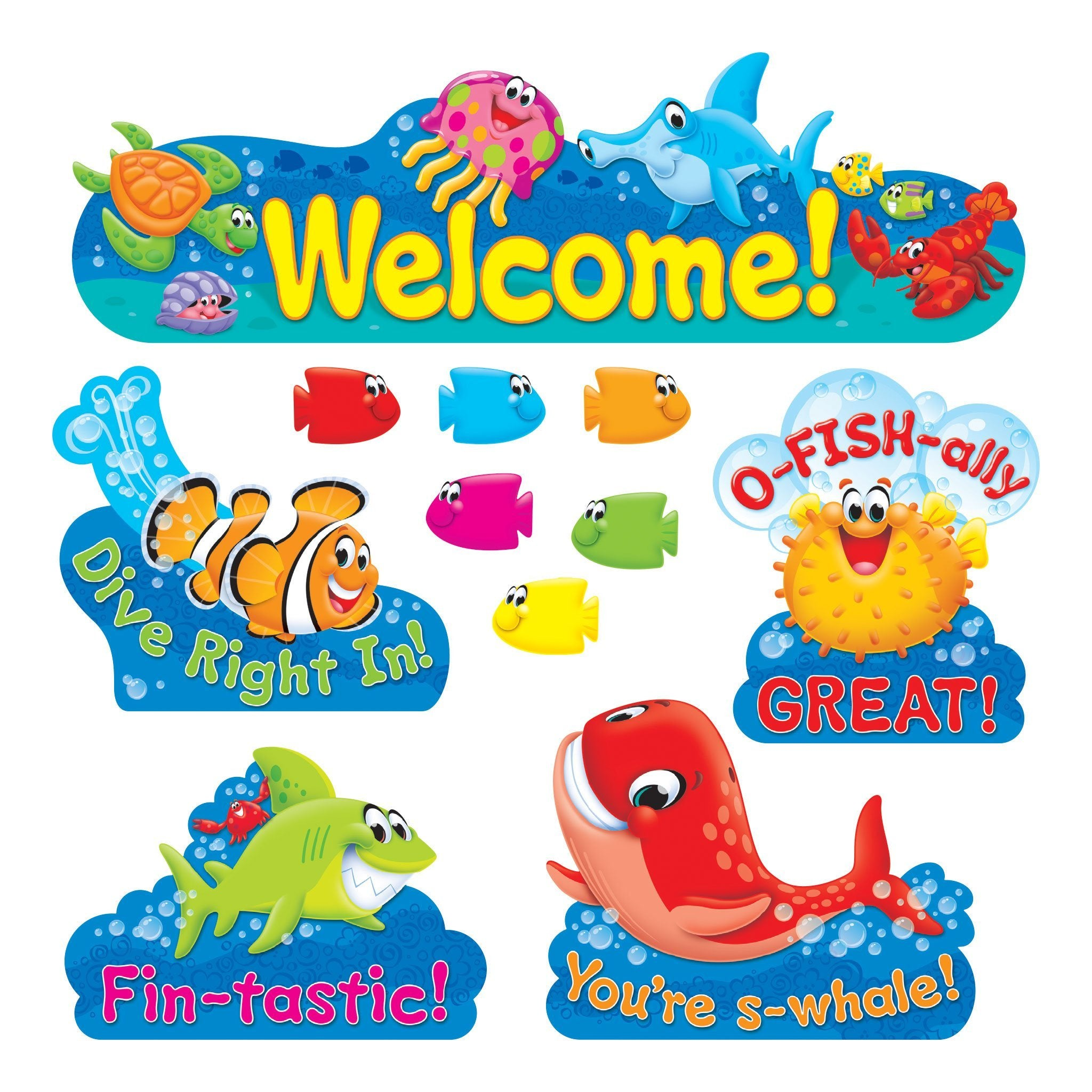 Sea Buddies™ Welcome Bulletin Boards