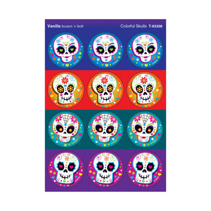 Colorful Skulls/Vanilla Stinky Stickers®