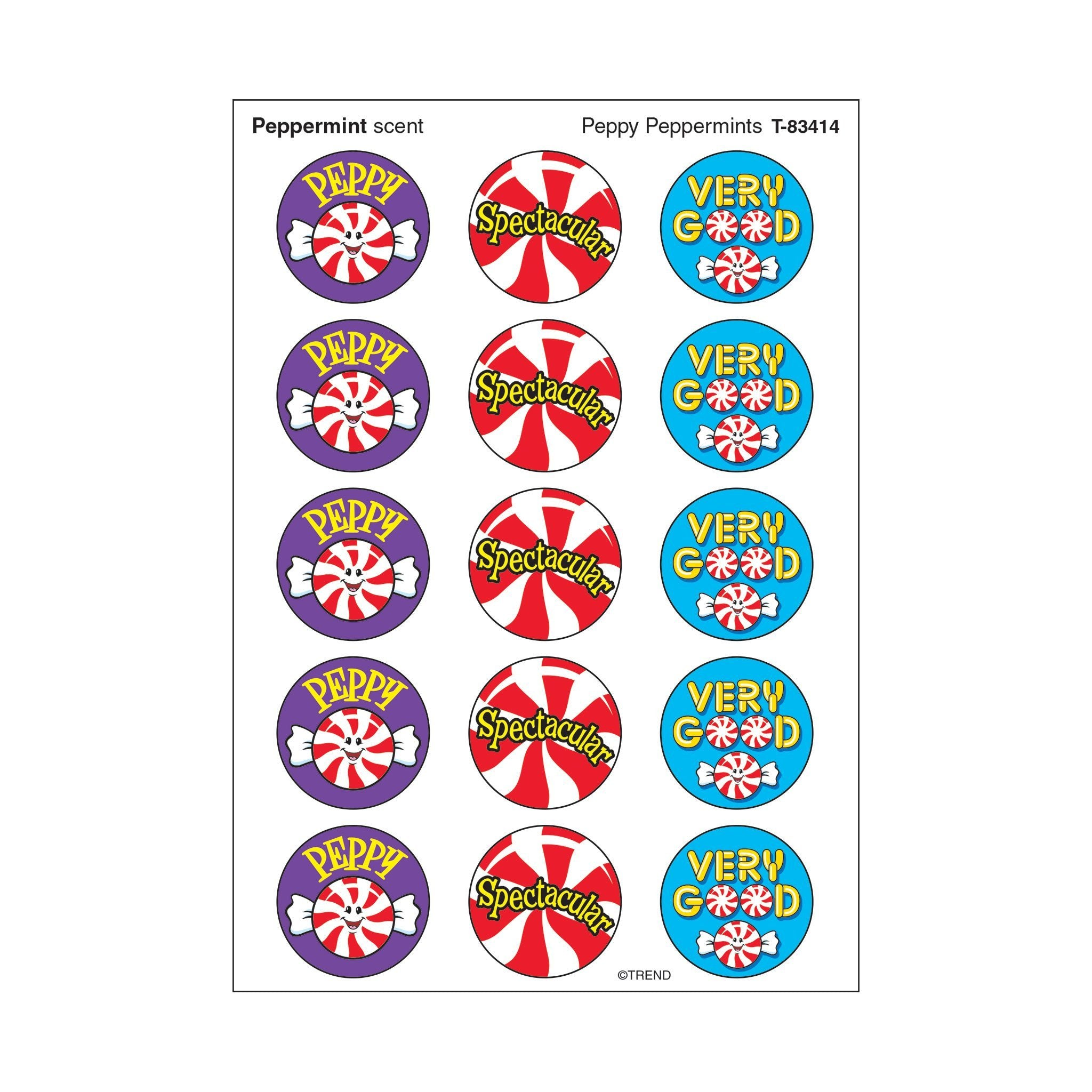Peppy Peppermints/Peppermint Stinky Stickers®