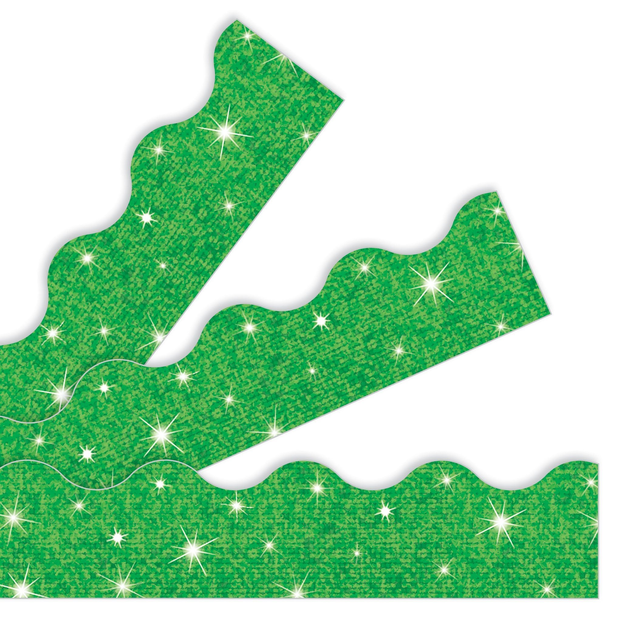 Green Sparkle Borders & Trimmers