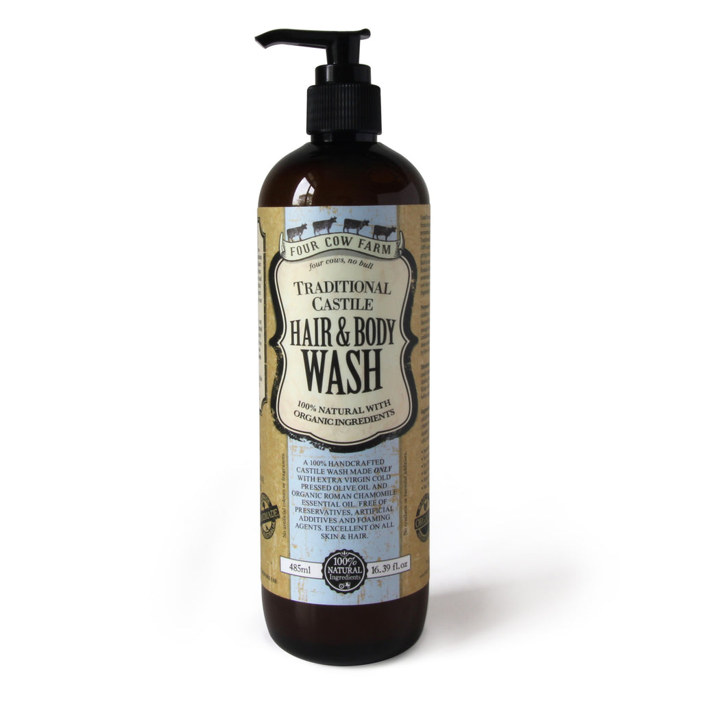 Traditional Castile Hair & Body Wash 485ml / 16.39 fl.oz - Twin Pack