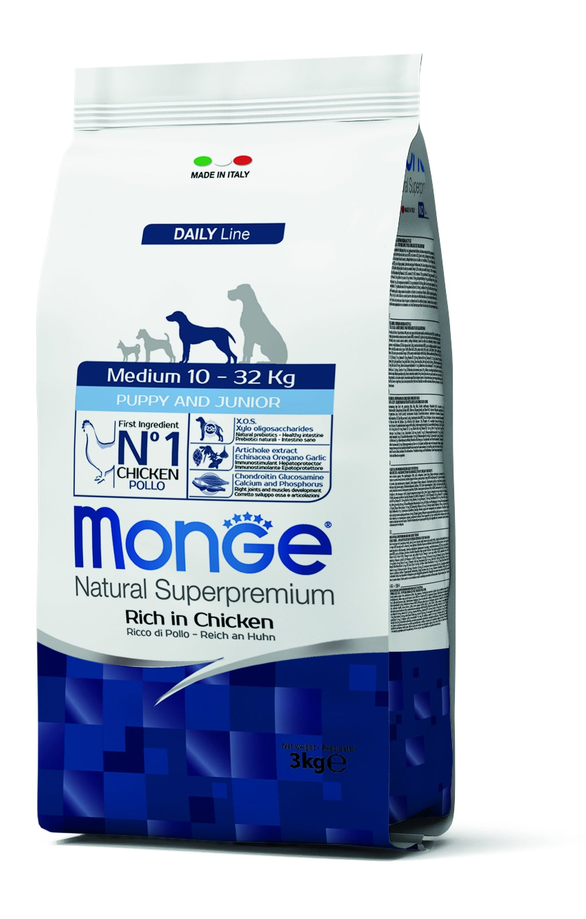 Monge Natural Superpremium secco cane NEW LINE MEDIUM PUPPY POLLO