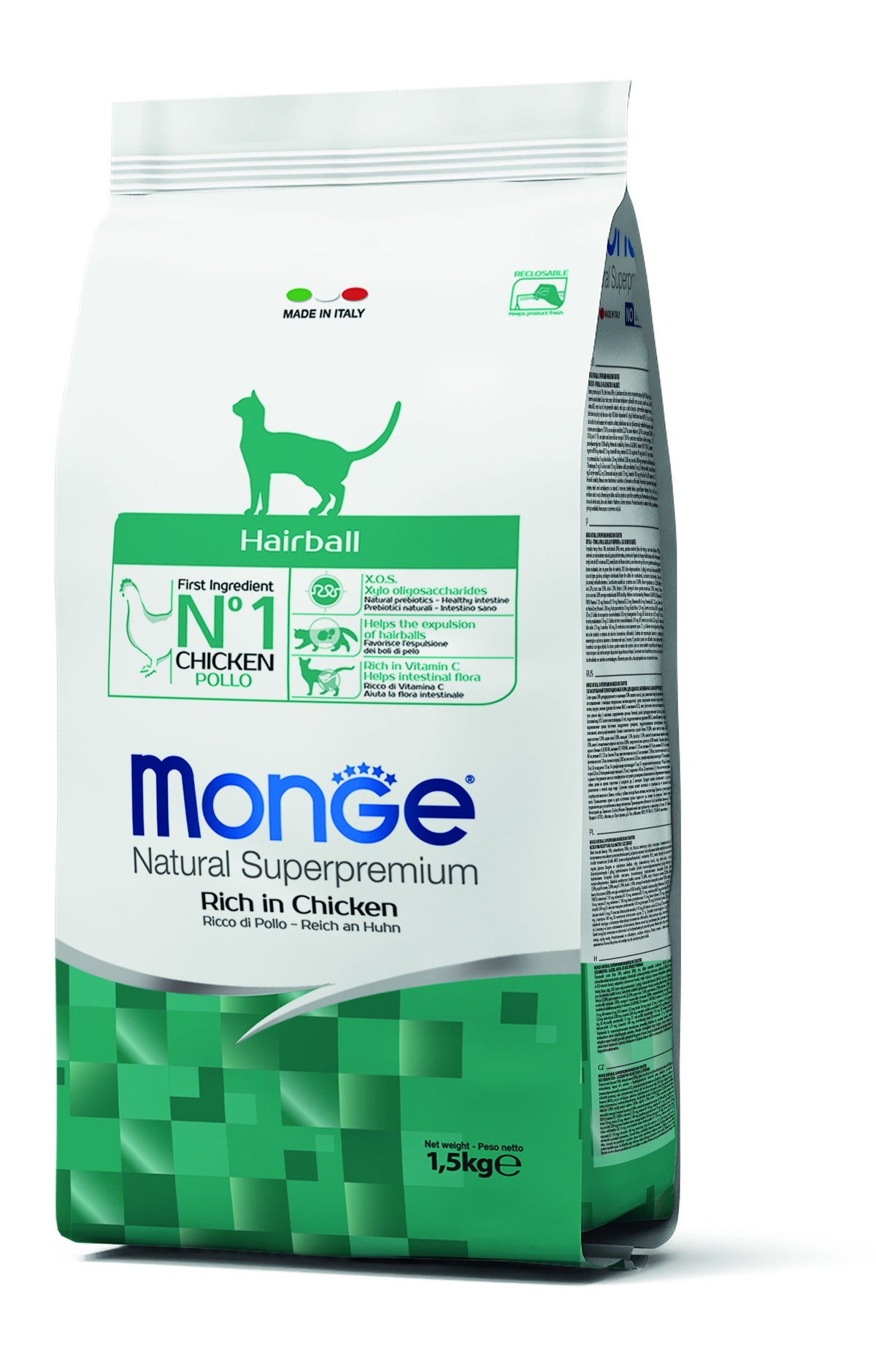 Monge Natural Superpremium secco gatto HAIRBALL