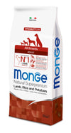 Monge Natural Superpremium secco cane NEW LINE ALL BREEDS ADULT AGNELLO,RISO&PATATE