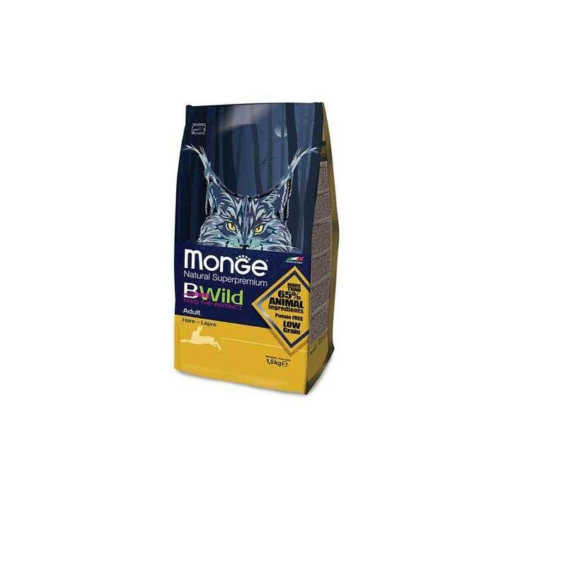 MONGE BWILD LOW GRAIN GATTO LEPRE 1.5kg