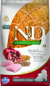 N&D DOG ANCESTRAL POLLO&MELOGRANO PUPPY MEDIUM/MAXI  2,5KG