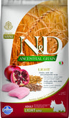 N&D DOG ANCESTRAL POLLO&MELOGRANO LIGHT MINI  2,5KG