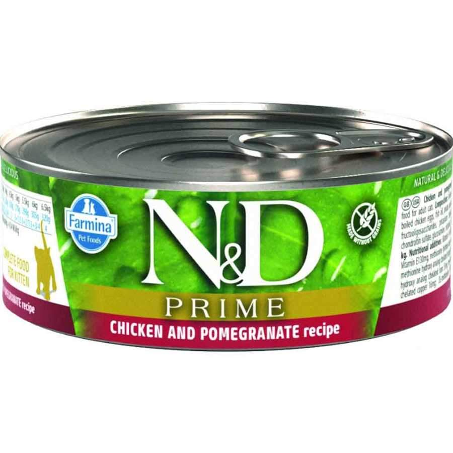 N&D CAT PRIME POLLO & MELOGRANO KITTEN GR 80g