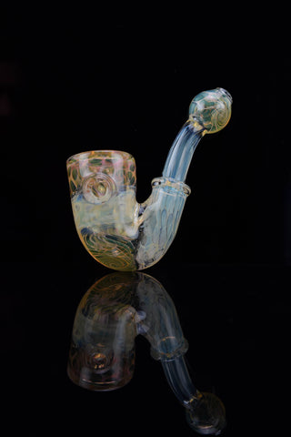 Silver Fume & Secret White Accented Dry Pipe