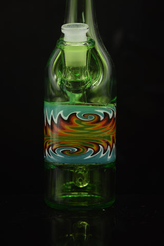 Ace-Tate Glass UV Reactive Gold & Silver Fumed Implosion Pendant