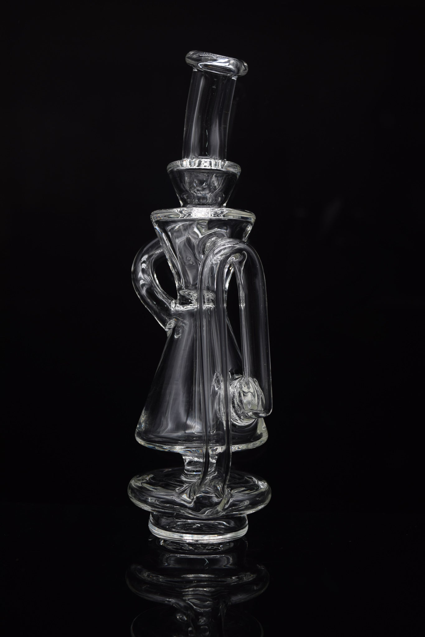 Forged by fire glass Green Swizzle Dabbing Bird Vapor Rig