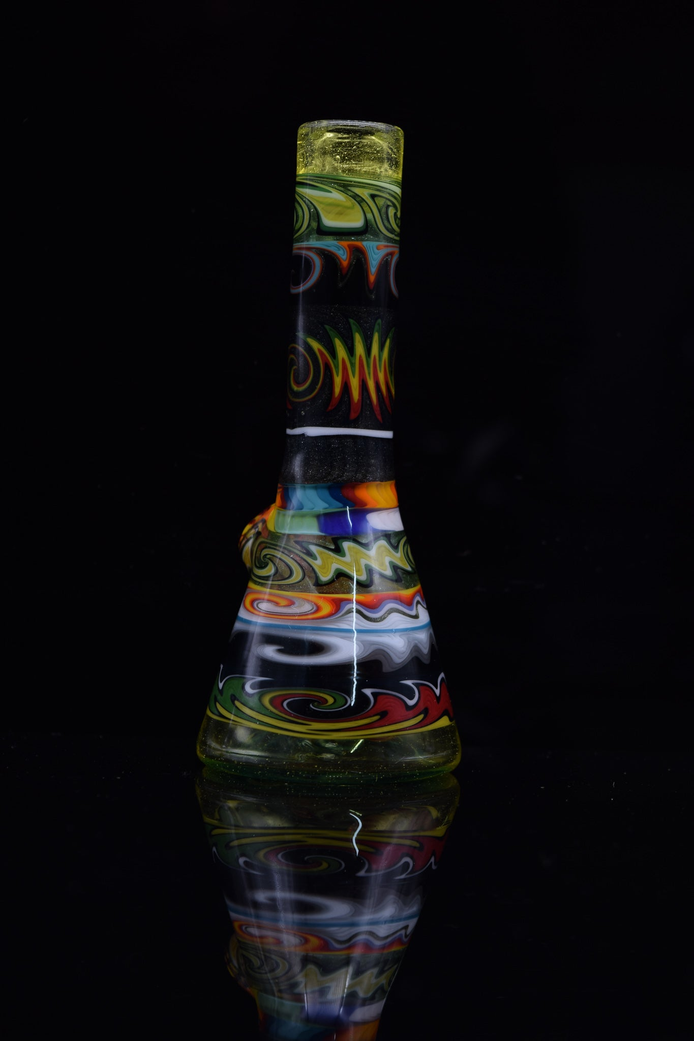 Worked Mini Beaker by Nes Glass