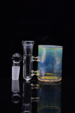 Chosen One Glass Gold & Silver Fume Woodtech Lineworked Banger Hanger
