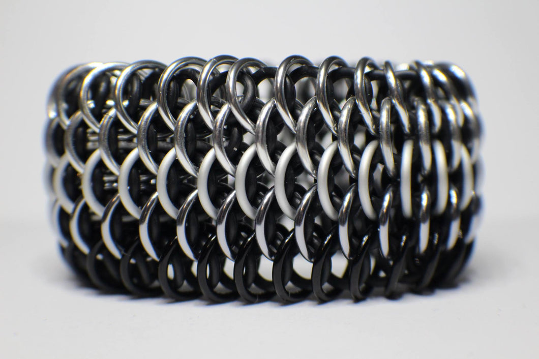 Black and Silver Dragonscale Cuff