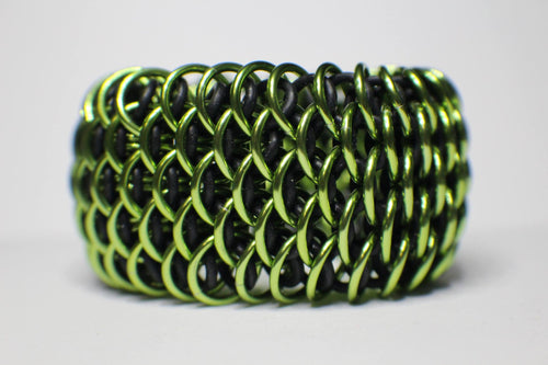 Lime Green Dragonscale Cuff