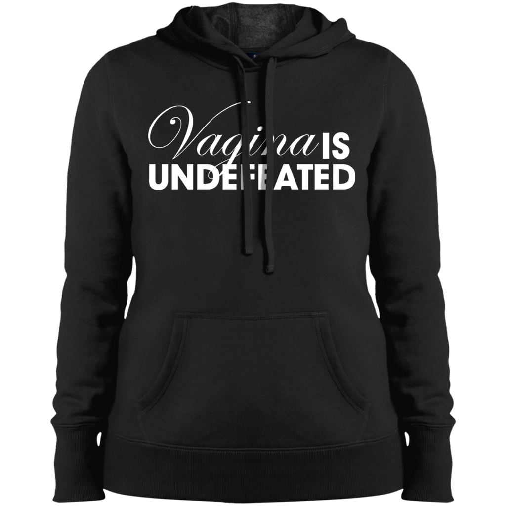 Vagina Is Undefeated Ladies' Pullover Hooded Sweatshirt
