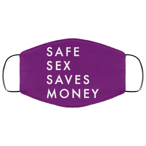 Safe Sex Saves Money FMA Face Mask