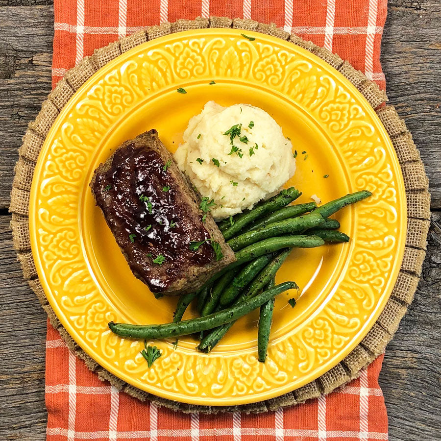 Keto Cranberry Meatloaf with Mashed Parsnips