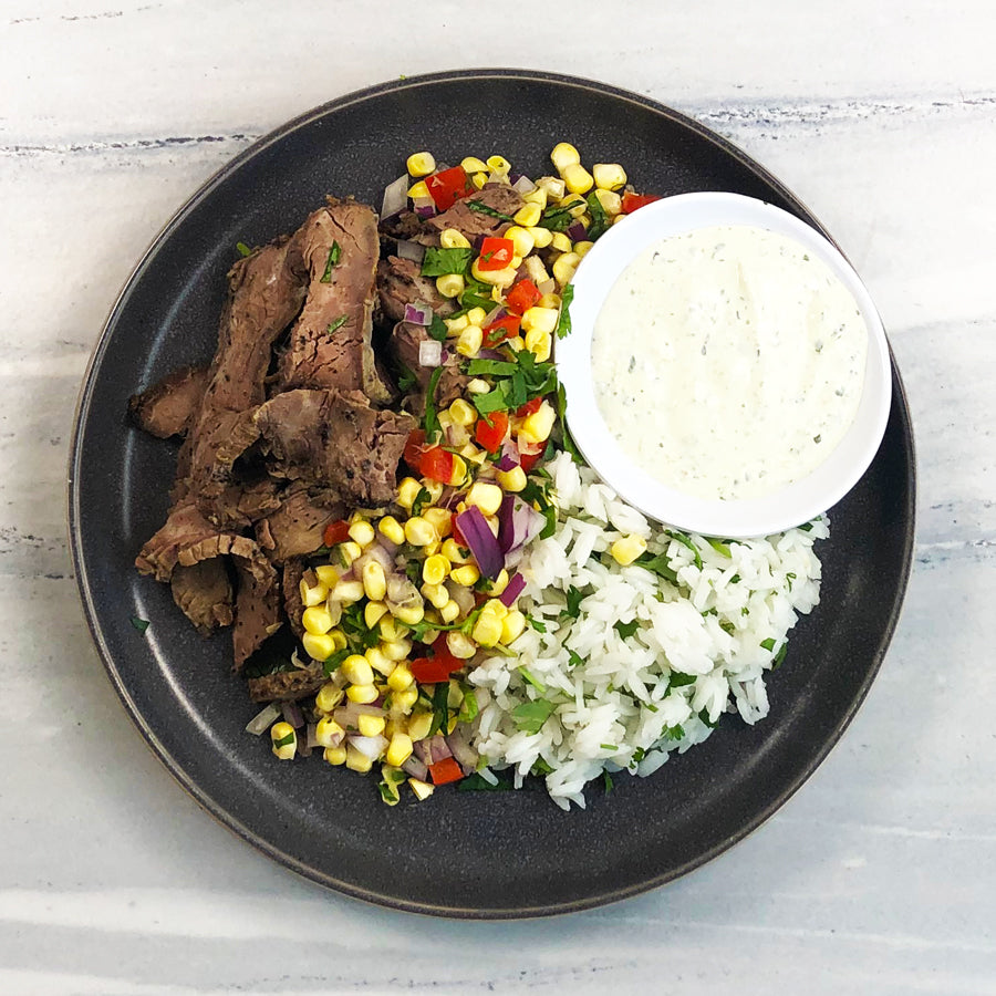 Flank Steak with Corn Salsa