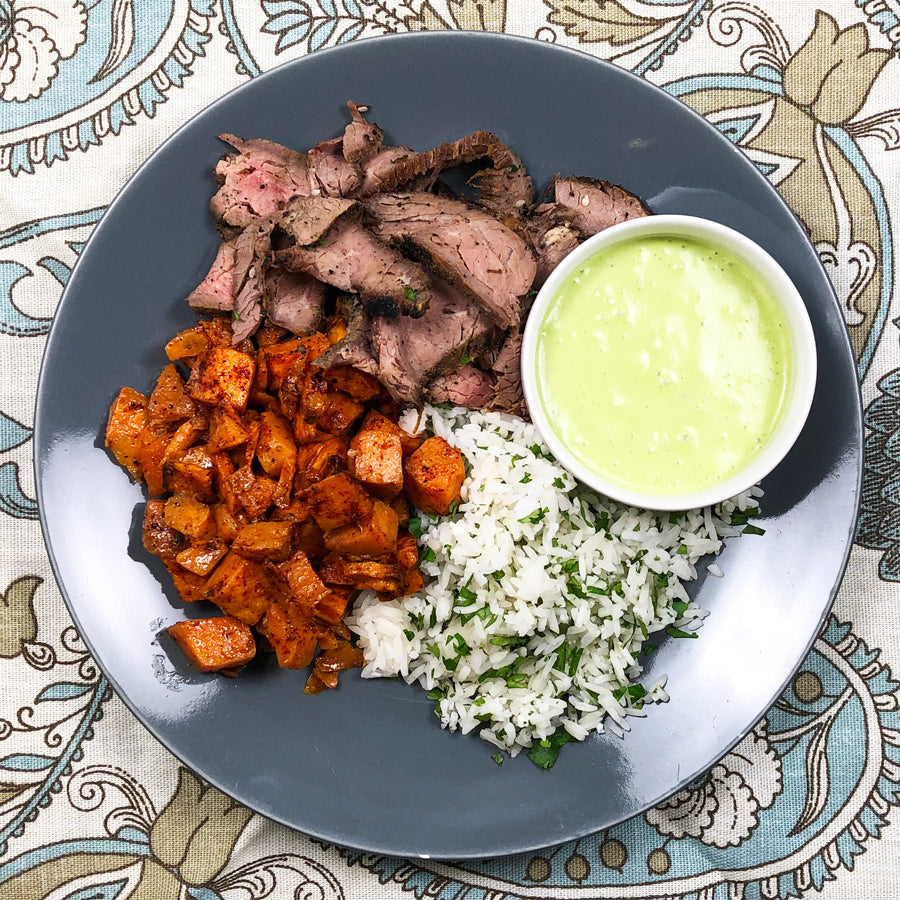 Flank with Jalapeno Creme