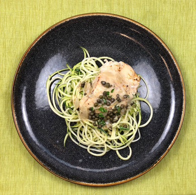 Keto Chicken Piccata over Zoodles