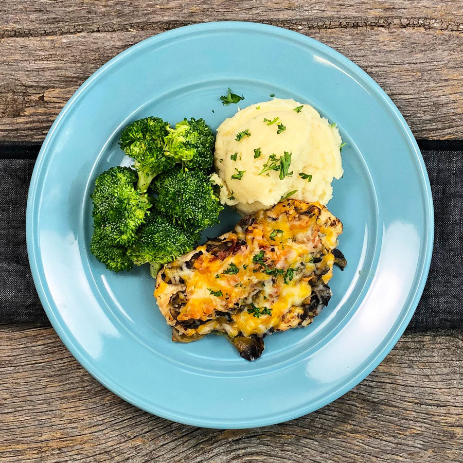 Keto Alice Springs Chicken with Mashed Parsnips and Broccoli