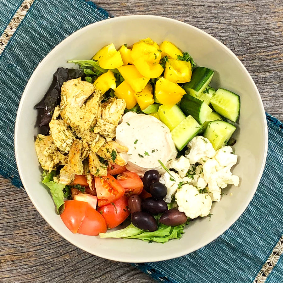 Keto Gyro Chicken Bowl