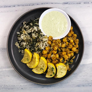 Masala Chickpeas with Veggie Rice