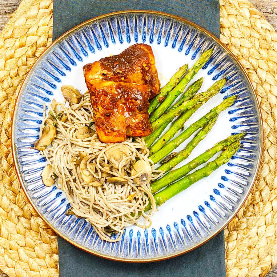 Smokey Maple Cod with Basil Soba Noodles