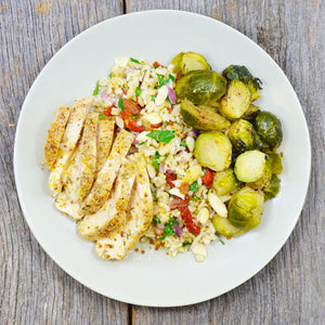 Lemon Dill Chicken with Mixed Brown Rice