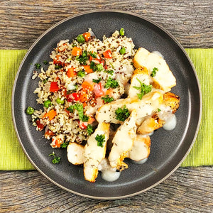 Spring Pilaf Grains with Garlic Thyme Chicken