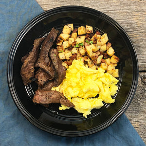 Steak and Eggs with Country Potatoes