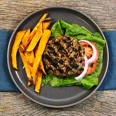 Pick Your Sides: Vegan BBQ Bean Burger