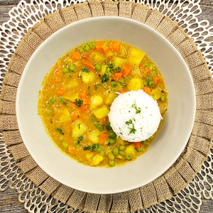 Vegetarian Coconut Korma with Rice
