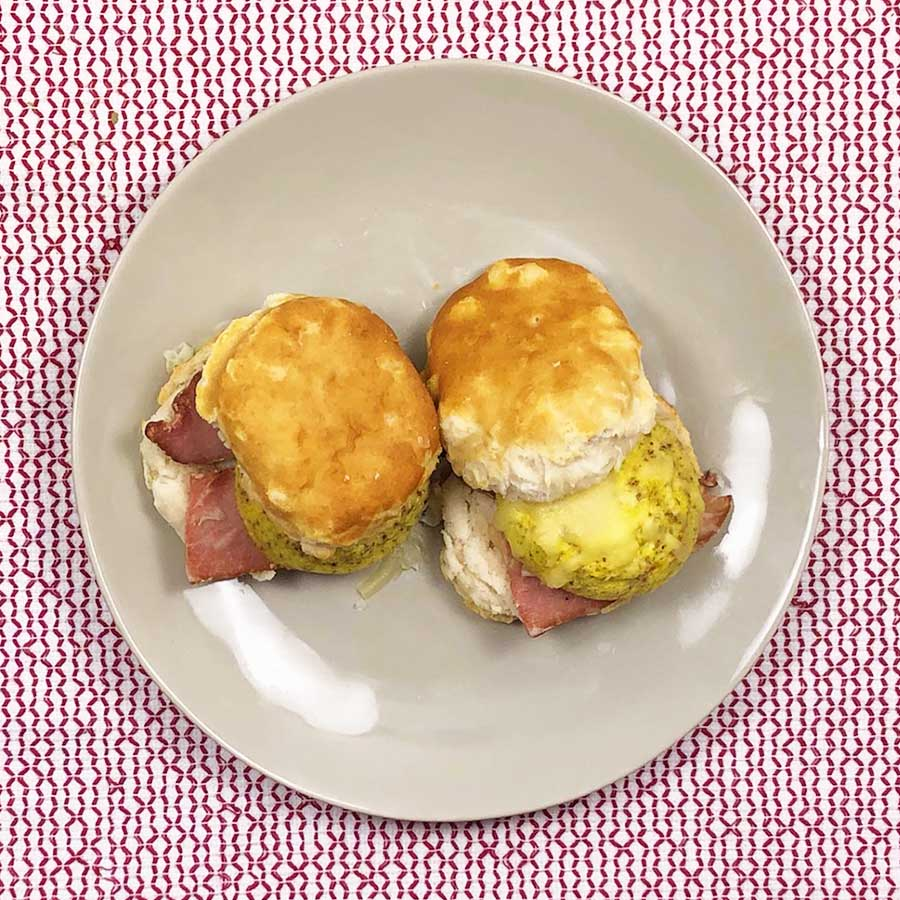 Ham Egg and Cheese Biscuit