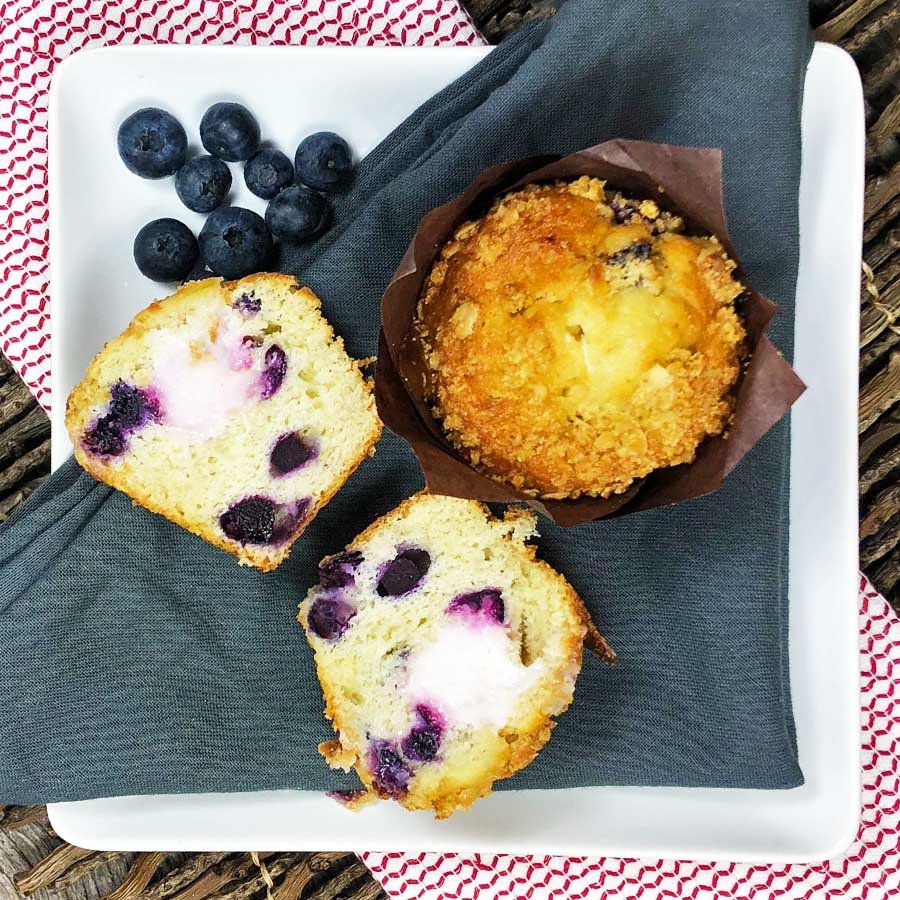 Blueberry Lemon Parfait Muffin (Choice of 2 or 6)