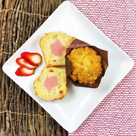 Strawberry  Rhubarb Parfait Muffins