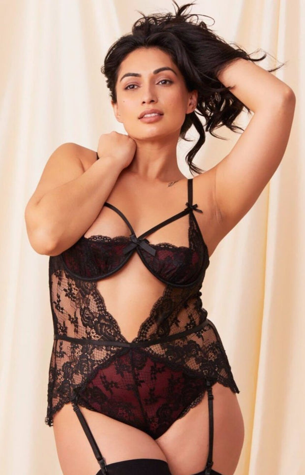 Half Cup Lace Teddy