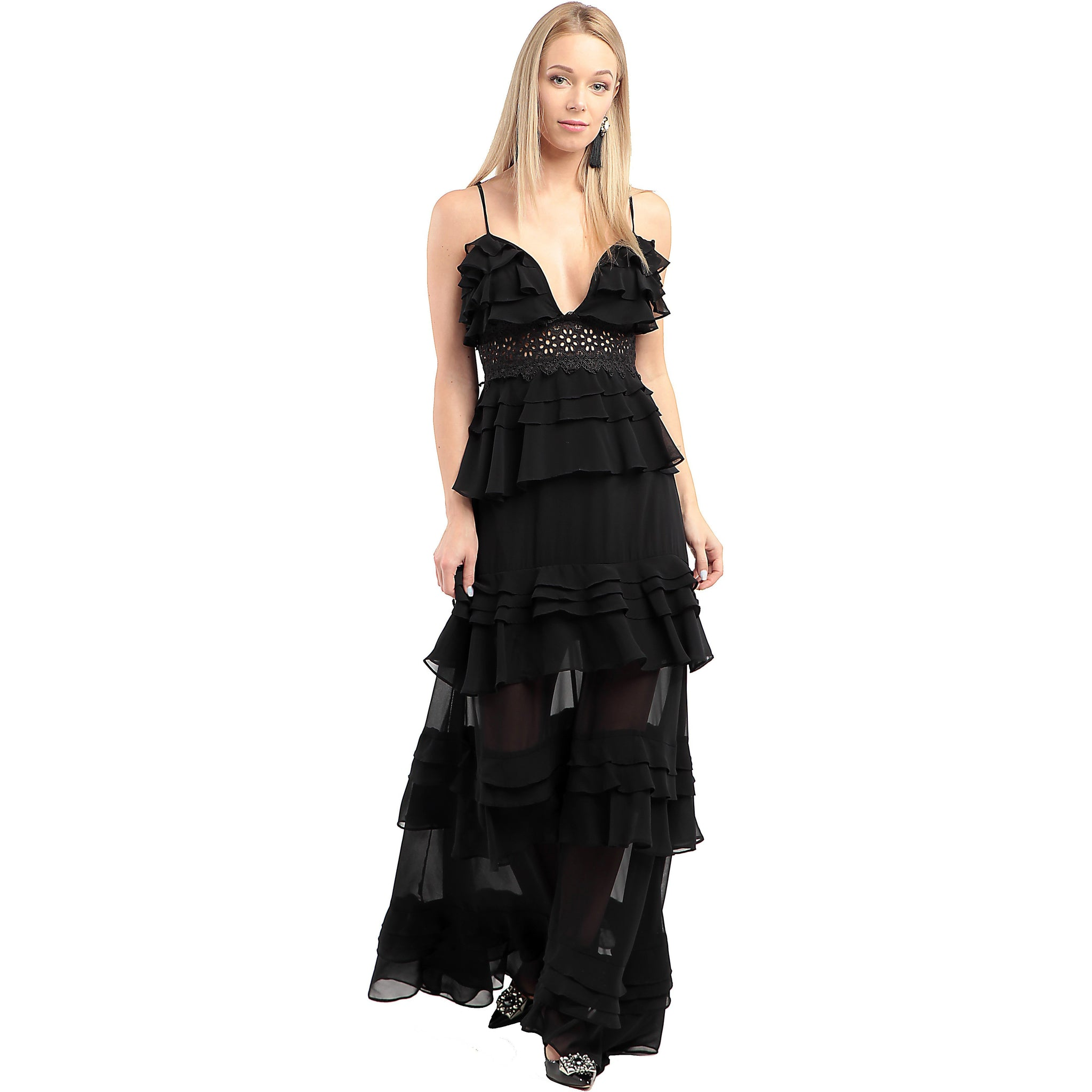 TRUE DECADENCE Glamorous Tiered Dress